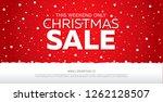 christmas sale banner layout... | Shutterstock .eps vector #1262128507