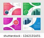 business bifold brochure  flyer ... | Shutterstock .eps vector #1262131651