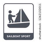 sailboat sport icon vector on...   Shutterstock .eps vector #1262132011