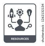 resources icon vector on white...   Shutterstock .eps vector #1262132134