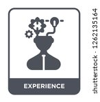 experience icon vector on white ... | Shutterstock .eps vector #1262135164