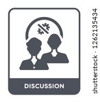 discussion icon vector on white ... | Shutterstock .eps vector #1262135434