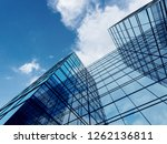 view of high rise glass... | Shutterstock . vector #1262136811
