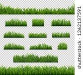 big set green grass borders... | Shutterstock . vector #1262137591