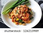 Thai style noodles - stock photo