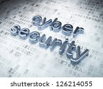 privacy concept  silver cyber... | Shutterstock . vector #126214055