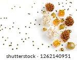 christmas composition.... | Shutterstock . vector #1262140951