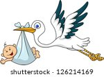 stork and baby | Shutterstock .eps vector #126214169