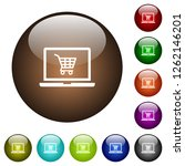 webshop white icons on round...   Shutterstock .eps vector #1262146201