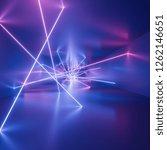 Ultraviolet Neon Square Lines ...
