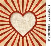 retro background with a heart... | Shutterstock . vector #126215141