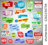 modern sale origami banners and ... | Shutterstock .eps vector #1262156734