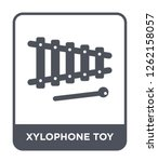xylophone toy icon vector on... | Shutterstock .eps vector #1262158057