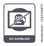 no gambling icon vector on... | Shutterstock .eps vector #1262166871