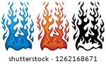 fire vector illustration in red ... | Shutterstock .eps vector #1262168671