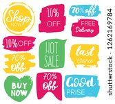 set of sale labels. hand drawn... | Shutterstock .eps vector #1262169784