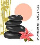 spa stones   Shutterstock .eps vector #126217181
