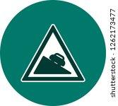 vector dangerous descent icon... | Shutterstock .eps vector #1262173477