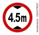 prohibitory sign. maximum...   Shutterstock .eps vector #1262179027