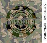 typescript camouflaged emblem | Shutterstock .eps vector #1262183377