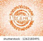 urgency orange mosaic emblem...   Shutterstock .eps vector #1262183491