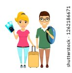 a young european couple goes on ... | Shutterstock .eps vector #1262186671