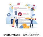 blog content  blogging post... | Shutterstock .eps vector #1262186944