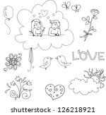 hand drawn set elements for... | Shutterstock .eps vector #126218921