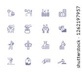 income line icon set. salary ... | Shutterstock .eps vector #1262197957