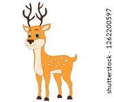 cute baby deer  woodland ... | Shutterstock .eps vector #1262200597