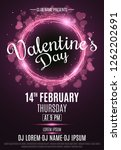 happy valentine's day party... | Shutterstock .eps vector #1262202691
