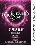 happy valentine's day party...   Shutterstock .eps vector #1262202694