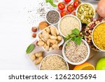 selection of good carbohydrates ... | Shutterstock . vector #1262205694
