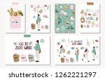 hand drawn cards and postera of ...   Shutterstock .eps vector #1262221297