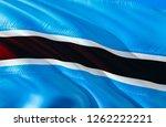 botswana flag. 3d waving flag...   Shutterstock . vector #1262222221