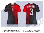 t shirt sport design template ... | Shutterstock .eps vector #1262227504