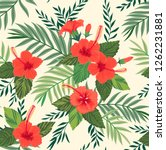 seamless pattern with tropical... | Shutterstock .eps vector #1262231881