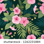 seamless pattern with tropical... | Shutterstock .eps vector #1262231884