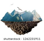 mountain plate  geology concept  | Shutterstock . vector #1262231911