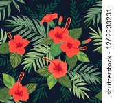 seamless pattern with tropical... | Shutterstock .eps vector #1262233231