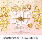 valentines day sale banner... | Shutterstock .eps vector #1262233747