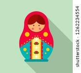 traditional russian nesting... | Shutterstock .eps vector #1262234554