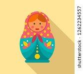 female nesting doll icon. flat... | Shutterstock .eps vector #1262234557