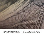 micro font on a hundred dollar ... | Shutterstock . vector #1262238727