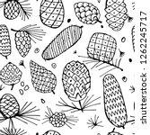 Cedar Cones  Seamless Pattern...
