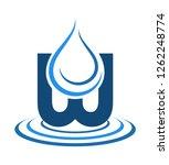 logo mineral water illustration ... | Shutterstock . vector #1262248774