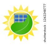 logo ecological solar energy... | Shutterstock . vector #1262248777