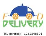 food delivery logo illustration ... | Shutterstock . vector #1262248801
