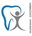 logo for a dental clinic... | Shutterstock . vector #1262248804