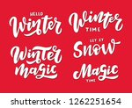 winter and magic lettering... | Shutterstock .eps vector #1262251654